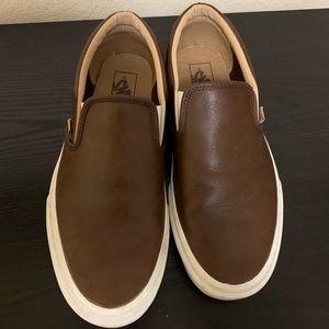 Men's leather Vans size 8.5